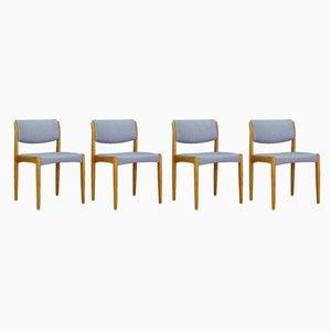 Dänische Vintage Eschenholz Esszimmerstühle von HW Klein für Bramin, 1970er, 4er Set