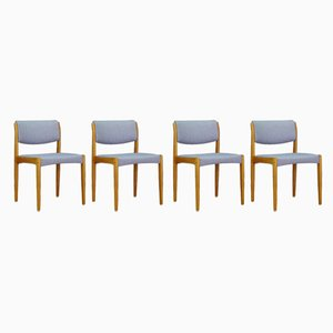Vintage Danish Ash Dining Chairs by H. W. Klein for Bramin, 1970s, Set of 4