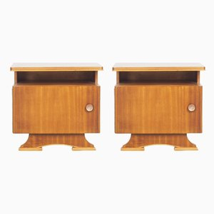 Vintage Dutch Nightstands, 1950s, Set of 2