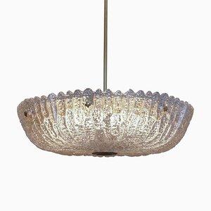 Deckenlampe aus Glas von Orrefors, 1960er