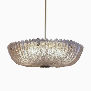 Glass Ceiling Lamp from Orrefors, 1960s
