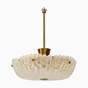 Glass Ceiling Lamp by Orrefors for Orrefors, 1960s