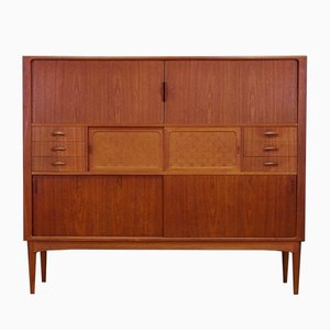 Mid-Century Danish Teak Highboard from Uldum Møbelfabrik, 1960s