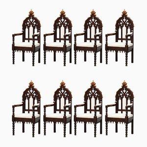 Antike Österreichische Stühle, 8er Set