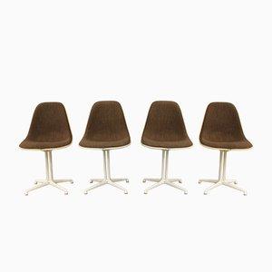 Vintage La Fonda Esszimmerstühle von Charles & Ray Eames für Vitra, 4er Set