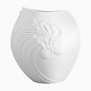 Weiße Porzellanvase von AK Kaiser, 1970er