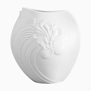 White Porcelain Vase from AK Kaiser, 1970s