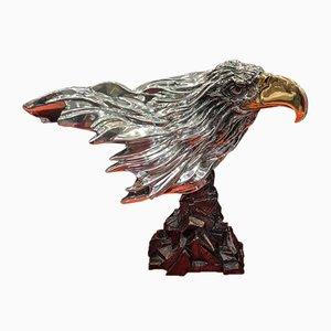 Sculpture de Tête d'Aigle en Argent d'Argenta, 2000s