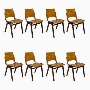 Modell P7 Esszimmerstühle von Roland Rainer für Emil & Alfred Pollak, 1950er, 8er Set