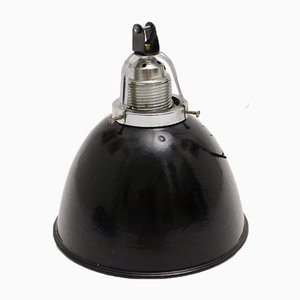 Lampe à Suspension Noire et Blanche, Allemagne, 1920s