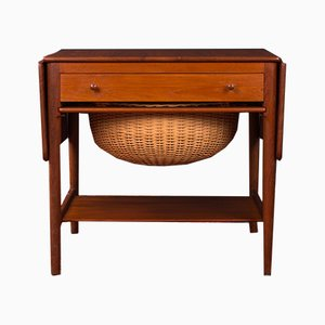 Model AT-33 Teak Side Table by Hans J. Wegner for Andreas Tuck, 1960s