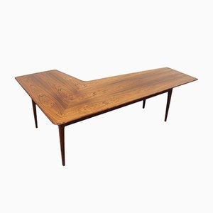 Vintage Rosewood Boomerang Coffee Table