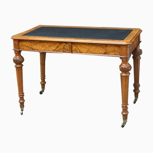 Antique Victorian Burr Walnut Desk