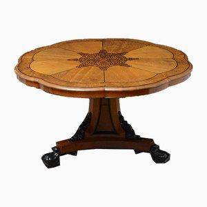 Mesa de comedor victoriana antigua de roble