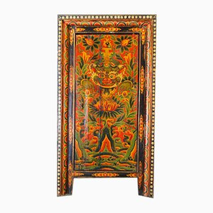 Antique Tibetan Polychrome Cabinet