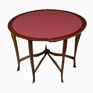 Antiker französischer Demi-Lune Spieltisch aus Palisander