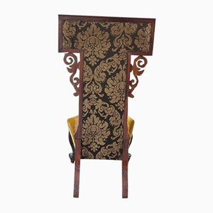 Antique Rosewood Beaded Tapestry Side Chair