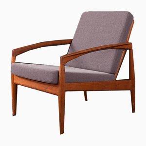 Dänischer Teak Paper Knife Chair von Kai Kristiansen für Magnus Olesen, 1950er