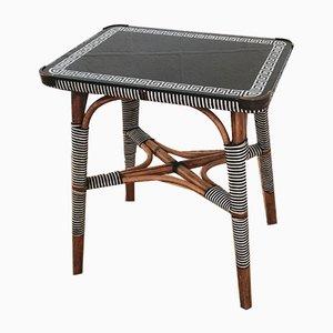 Tavolino in bambù e vetro, anni '20