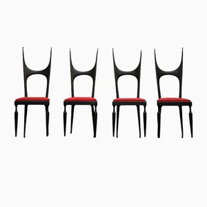 Dining Chairs from Pozzi & Verga, 1950s, Set of 4