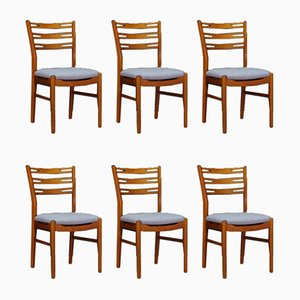 Mid-Century Danish Teak Dining Chairs, 1960s, Set of 6