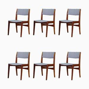 Dänische Mid-Century Palisander Esszimmerstühle von Skovby, 1960er, 6er Set