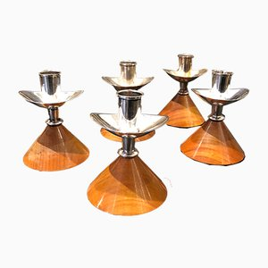 Candle Holders by Anna Greta Eker for Autan Kultaseppa OY, 1960s, Set of 5