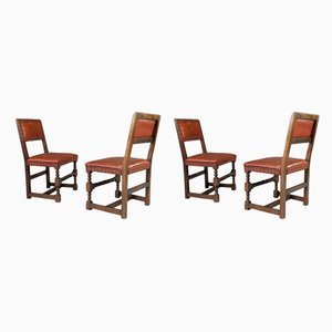 Antique Cromwellian Dining Chairs, Set of 4