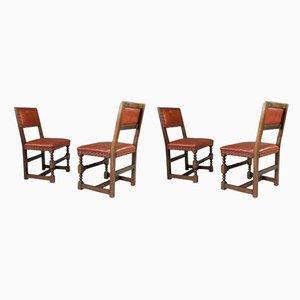 Sedie da pranzo antiche di Cromwellian, set di 4