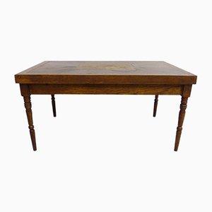 Tavolino da caffè antico intarsiato
