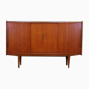 Mid-Century Danish Teak Highboard from ES Møbler, 1960s