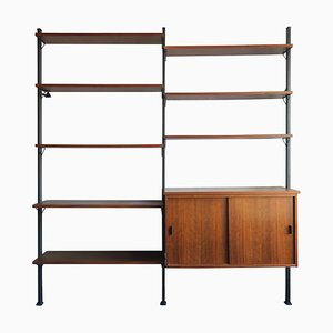 Teak & Metal Modular Wall Unit by Olof Pira, 1960s