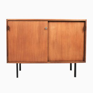 Small Teak Veneer Sideboard by Florence Knoll Bassett for Knoll International, 1960s