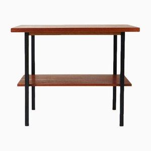 Table d'Appoint à 2 Niveaux Vintage en Teck, 1960s