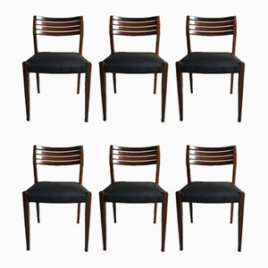 Mid-Century Danish Rosewood Dining Chairs, 1950s, Set of 6