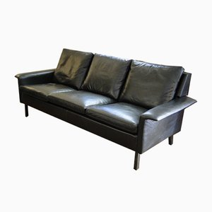 Vintage Leather Sofa by Arne Vodder for Fritz Hansen, 1960s