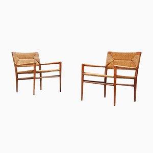 Dänische Vintage Lounge Stühle, 2er Set