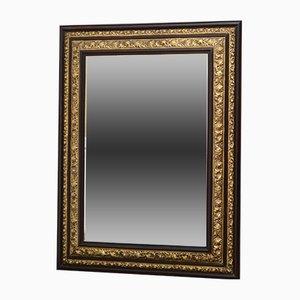 Antiker französischer Spiegel mit Messingrahmen