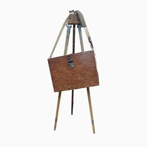 Antique Painting Easel with Suitcase Set