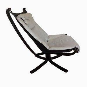 Falcon Leather Lounge Chair by Sigurd Ressell for Vatne Møbler, 1970s