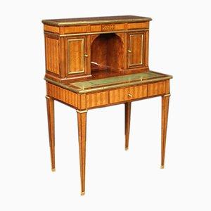 Französischer Schreibtisch aus Palisander im Louis XVI Stil mit Intarsie, 1960er