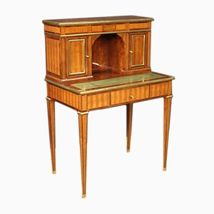 Louis XVI Style French Rosewood Inlaid Desk, 1960s