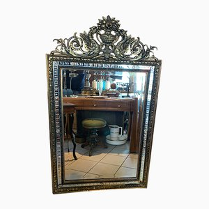 Antique Louis XV Wooden Mirror