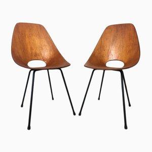 Schichtholz Esszimmerstühle von Vittorio Nobili für Fratelli Tagliabue, 1950er, 2er Set