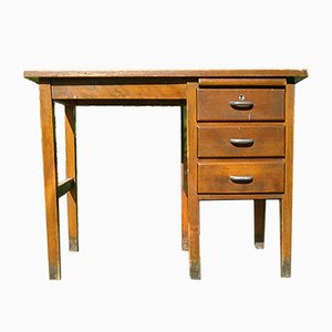 Art Deco Oak Desk from Simpoles Of Manchester, 1930s