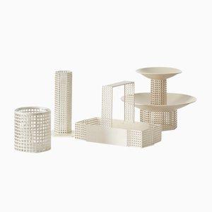 Centro de mesa italiano de metal de Josef Hoffmann para Bieffeplast, años 60