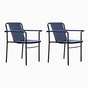Vintage Armchairs by Mario Marenco for Poltrona Frau, 1980s, Set of 2
