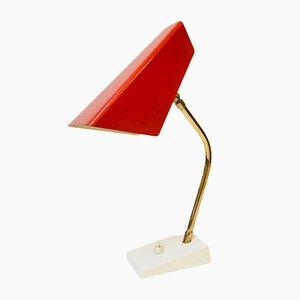 Lámpara de mesa Mid-Century de metal y latón