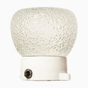 Lámpara de techo Champagne con burbuja transparente, años 20