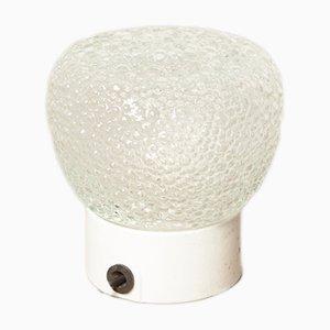 Lámpara de techo o pared industrial vintage de cristal burbuja y porcelana, años 20